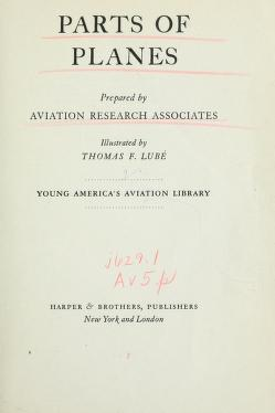 Cover of: Parts of planes | Aviation Research Associates